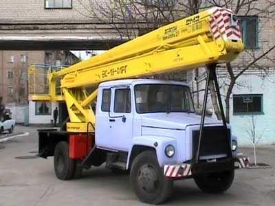 GAZ VS—18 Podemnik VS—18 s 5ti mestnoy kabinoy  bucket truck