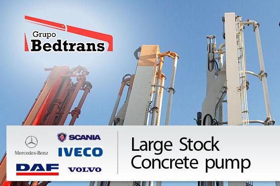 PUTZMEISTER THE BEST STOCK THE CONCRETE PUMPS IN SPAIN BEDTRANS concrete pump