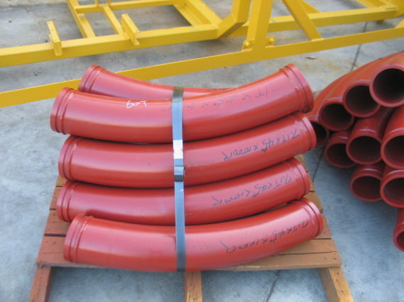 new Komplektuyushchie k betononasosam - zamki, povoroty, setki, shary  concrete pump
