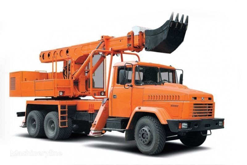KRAZ 65053 UDS-114R Avtoekskavator-planirovshchik  telescopic boom excavator