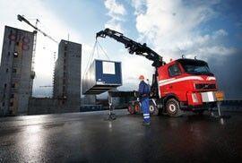 new HIAB XS 855 loader crane