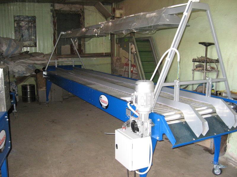 new inspekcionnyy rolikovyy stol - 5 m receiving hopper