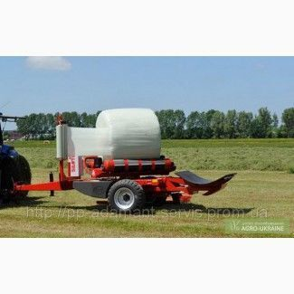 new LELY Attis PT round bale wrapper