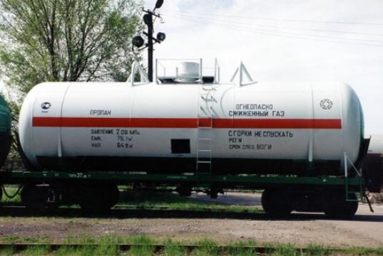 AZKM zheleznodorozhnaya gas tank trailer