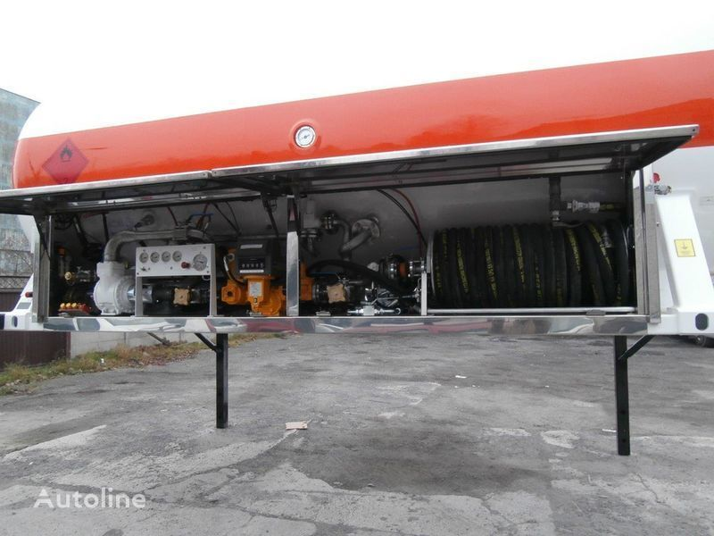 LDS smennoe shassi gas tank trailer