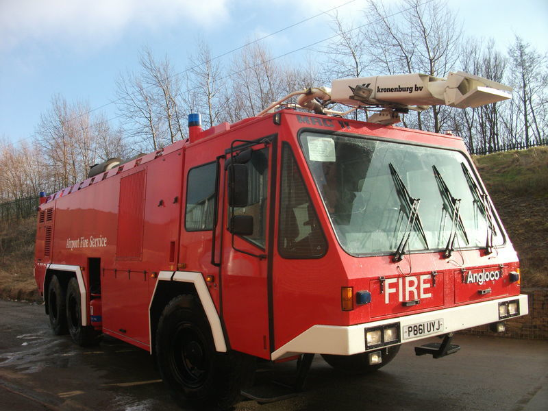 ## FOR HIRE # ANGLOCO AIRPORT FIRE FIGHTING VEHICLE / KRONENBURG fire truck