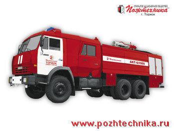 KAMAZ AKT-6/1000-80/20 Avtomobil kombinirovannogo tusheniya   fire truck