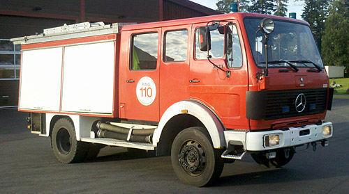MERCEDES-BENZ 1019-AF, 4x4 WD fire truck