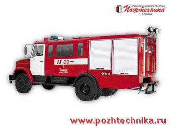 ZIL  AG-20 Avtomobil gazodymozashchitnoy sluzhby fire truck