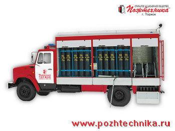 ZIL AGT-1 Avtomobil gazovogo tusheniya    fire truck