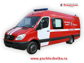 MERCEDES-BENZ PSA-MM Avtomobil pozharno-spasatelnyy s medicinskim modulem mobile sommand vehicle
