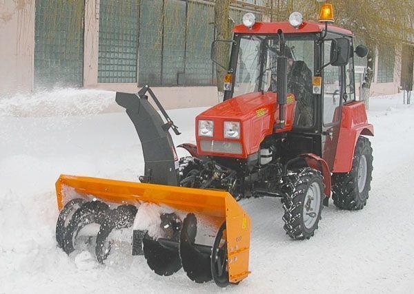 MTZ Shneko-rotornyy na MTZ 320 snowblower