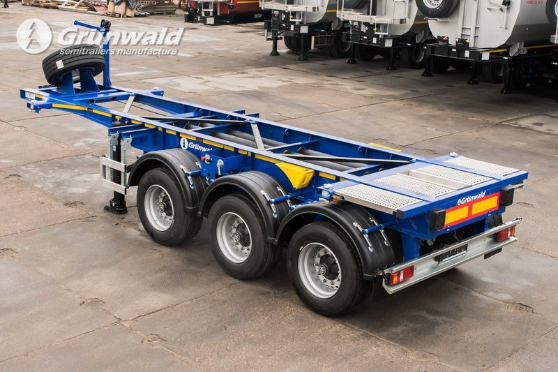 new GRUNWALD Tank-container semitrailer container chassis semi-trailer