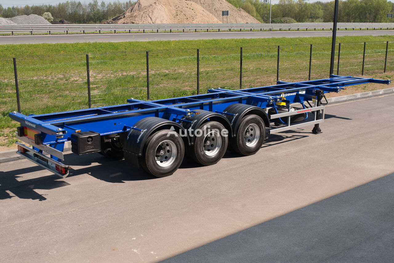 new GRUNWALD Versatile heavy duty container semitrailer container chassis semi-trailer