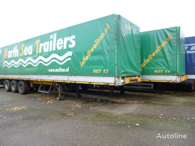 GROENEWEGEN huif met borden tilt semi-trailer