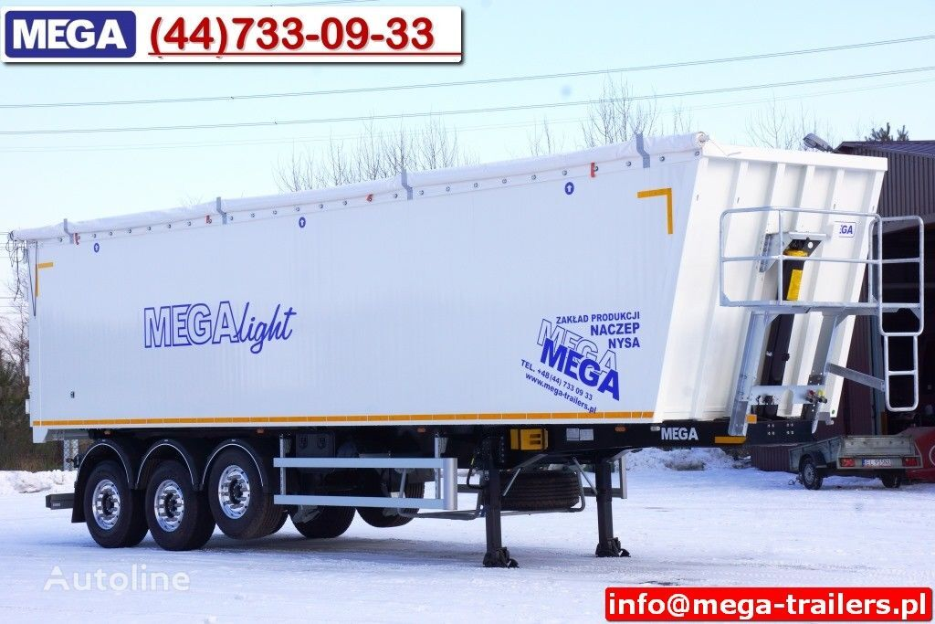 new MEGA 10,4 m / 60 M³ ALUM TIPPER SUPER LIGHT 6,2 T ! READY & NEW ! tipper semi-trailer