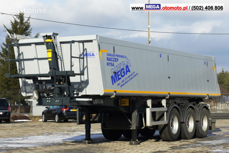 new MEGA 30 m³ - SUPER LIGHT - 5,300 KG - SUPER PRICE !!! READY !!! tipper semi-trailer
