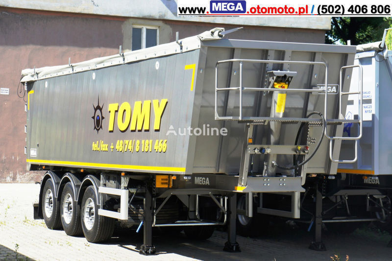 new MEGA 42 m³ - Alum. Kipper SUPER-LEICHT - 5,750 KG & TUREN - BEREIT ! tipper semi-trailer