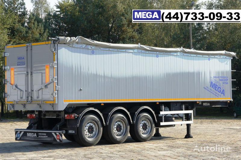 new MEGA 42 m³ SAF ACHSE/ ALUMULDE / KLAPPETUREN / BEREIT tipper semi-trailer