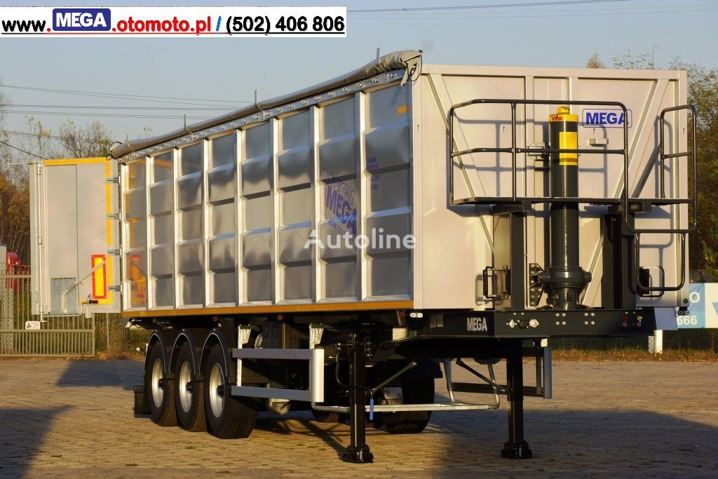 new MEGA 50 M³ TIPPER FOR SCRAP & IRON DOMEX 650 !READY ! tipper semi-trailer