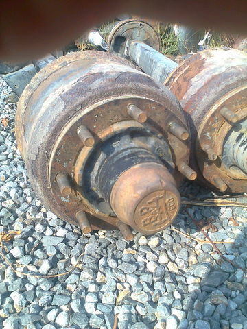 BPW,MEGA 360x200,SKHZF9008-15ECO P axle for semi-trailer