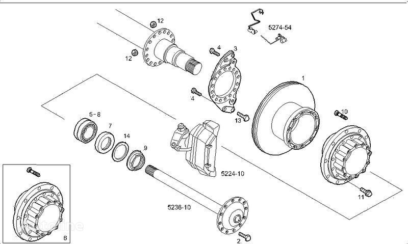 new 2995812 2996328 7185503 7189476 brake disk for IVECO STRALIS truck