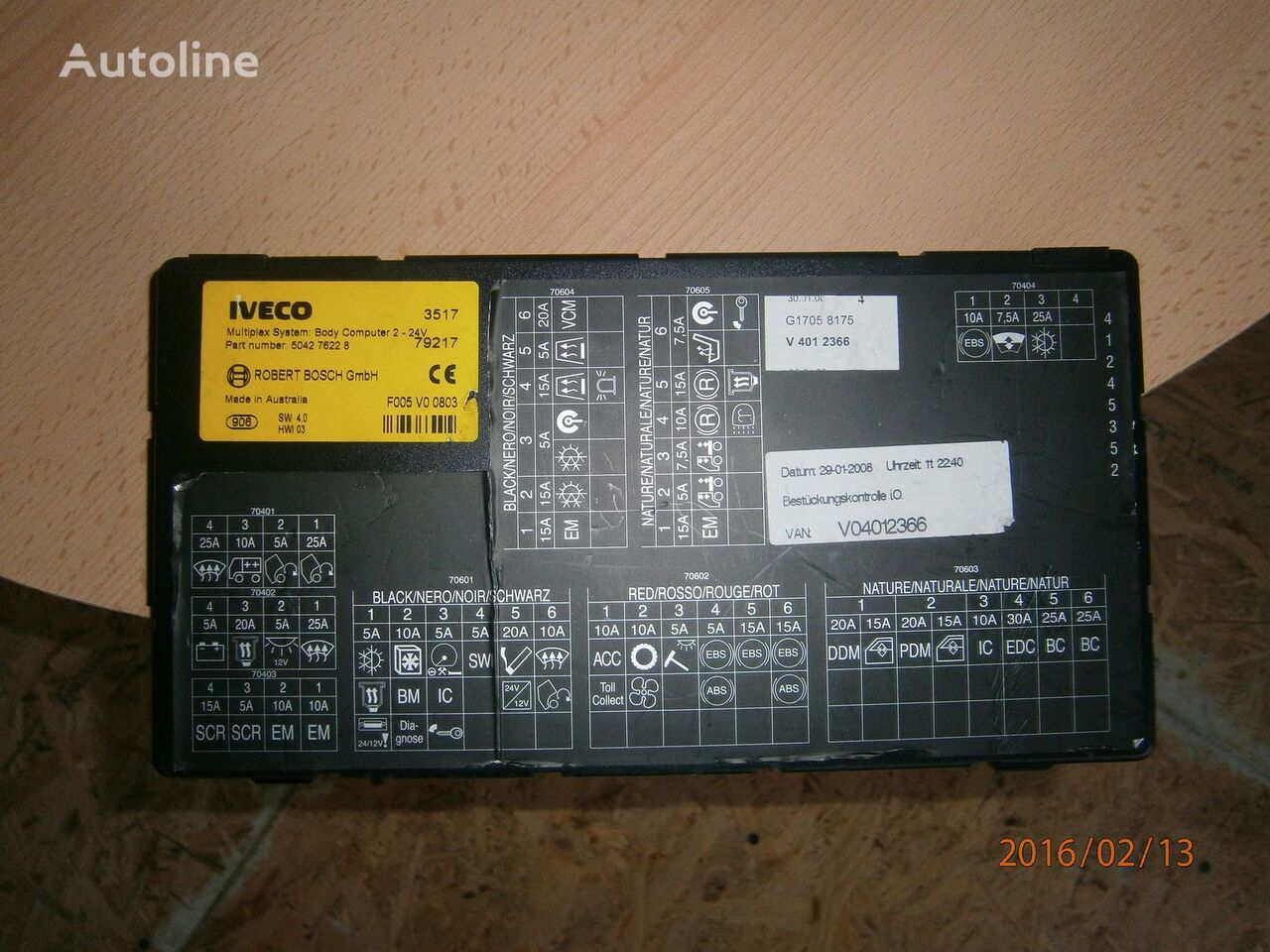 Iveco Stralis EURO5 Multiplex system body computer 504276228 control unit for IVECO Stralis tractor unit