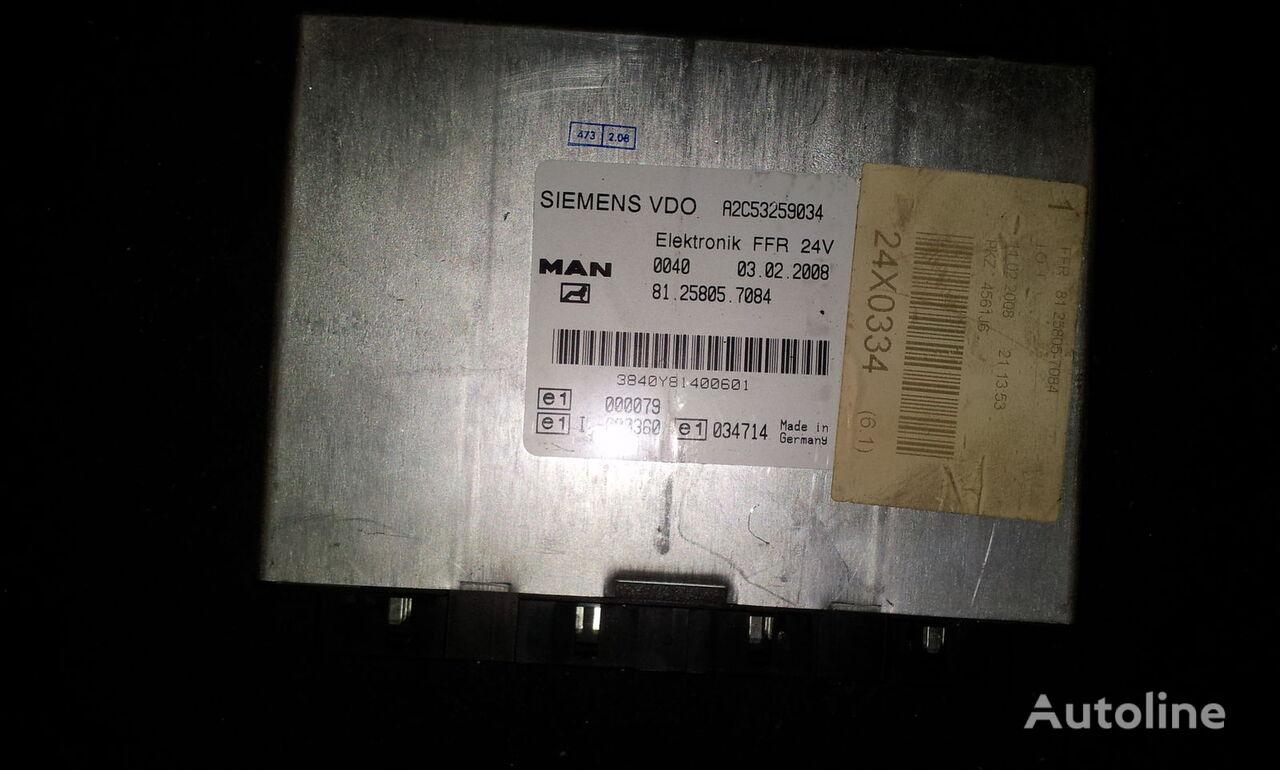 MAN FFR control unit, ECU, 81258057084, Siemens VDO, 81258057084, 81258057088, 81258057081, 81258057082, 81258057083, 81258057084, 81258057087, 81258057089, 81258057088 control unit for MAN TGX tractor unit