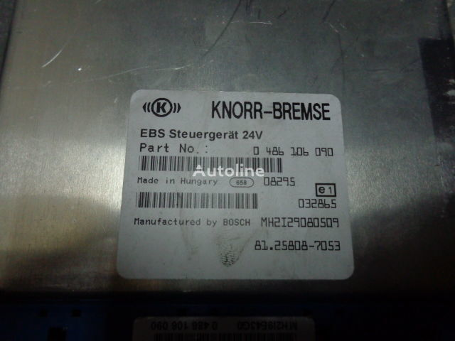 MAN electronic brake system EBS, ECU, 81258087053, KNORR-BREMSE 0486106090, 81258057003, 461470001003, 81258057005, 461470001005, 81258057007, 461470001007, 81258057009, 461470001009, 81258057011, 461470001011, 81258057013, 461470001013, 81258057036, 81258087 control unit for MAN TGX tractor unit