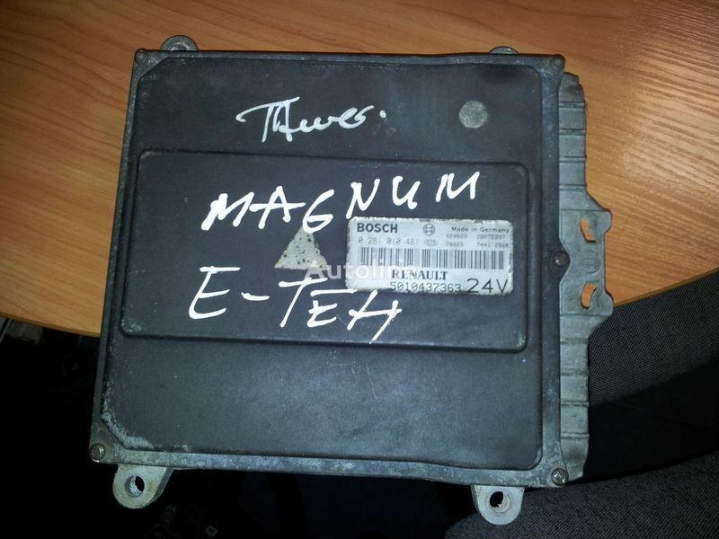 RENAULT engine computer EDC, ECU, 5010437363, BOSCH 0281010481 control unit for RENAULT Magnum E-TECH  tractor unit