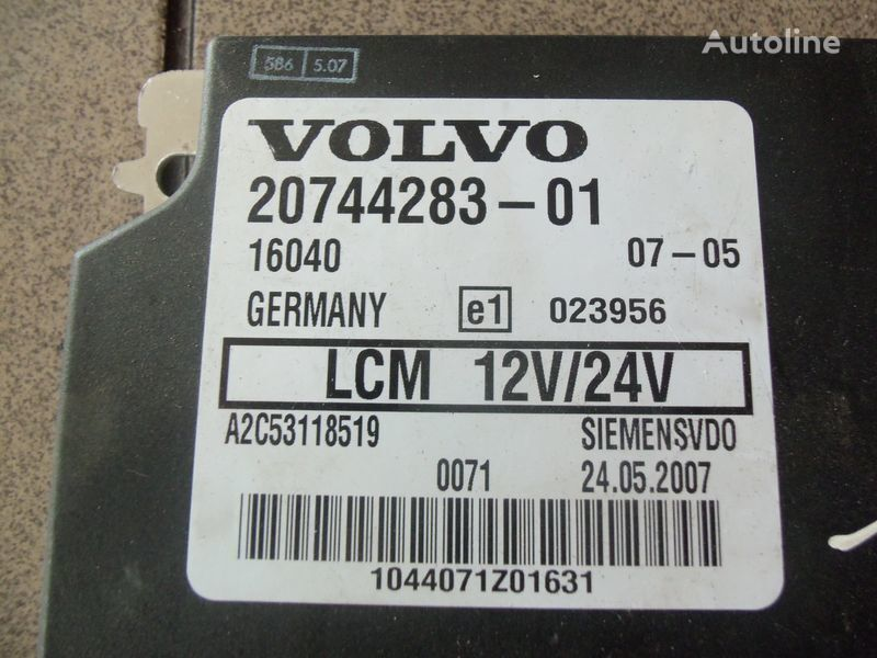 VOLVO FH12, LCM control unit, lightning 20744283, 20514900, 85108922, 20744286, 20865208, 85115541, 20815236, 85110015 control unit for VOLVO FH12 tractor unit