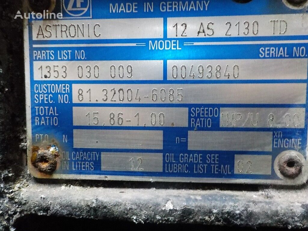 ZF 12AS2130TD gearbox for truck
