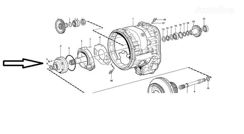 new Pompa VOE11145264 gearbox for VOLVO  L180E wheel loader
