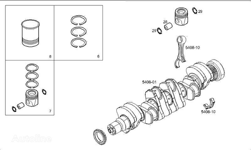 new 500380395.2991781.500380393.2996141.2996142.2996143.2995714.2996174. spare parts for IVECO truck