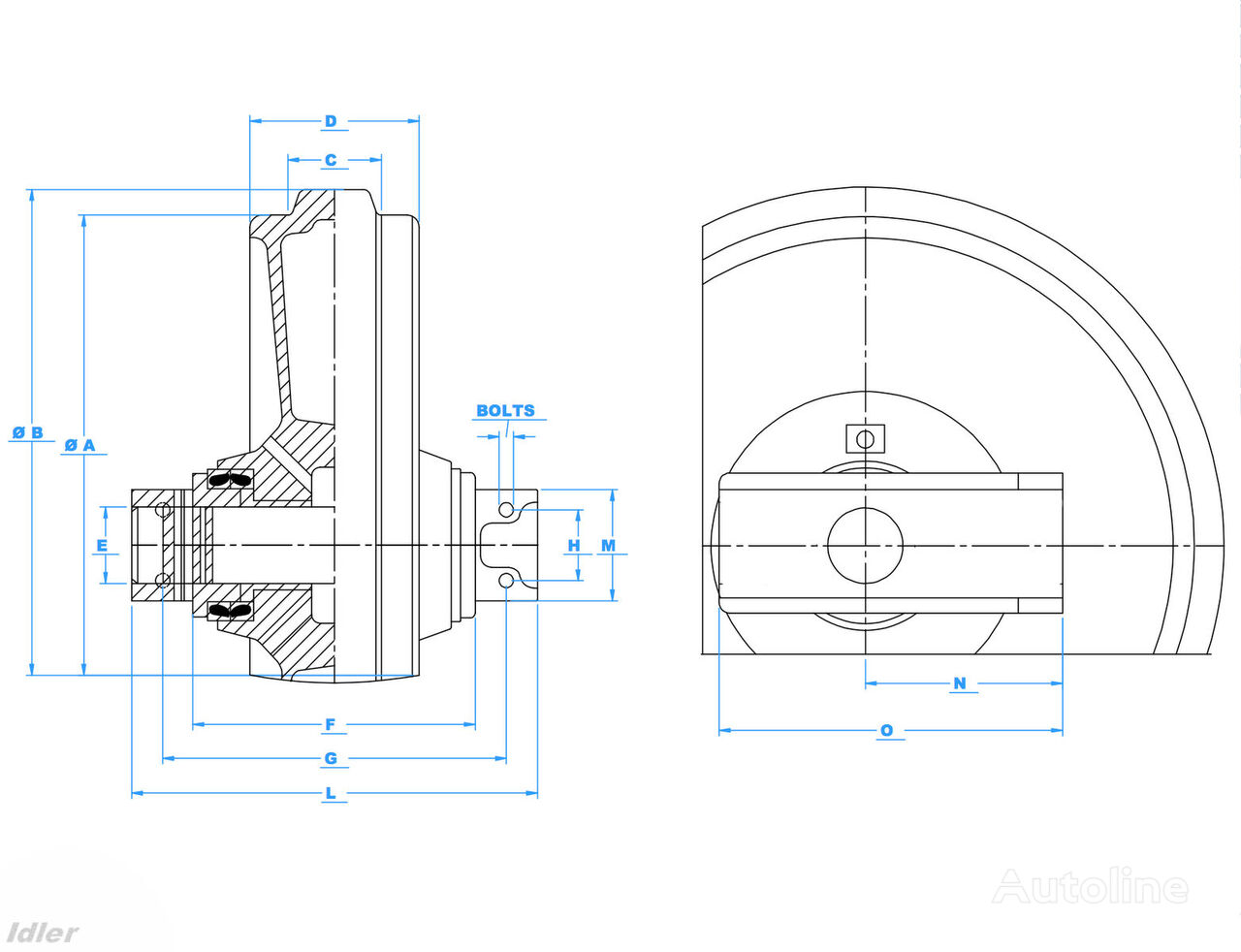 JSB lenivec spare parts for JCB 220 excavator