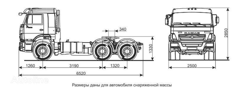 KAMAZ Sedelnyy tyagach KAMAZ-65116 (6h4) tractor unit