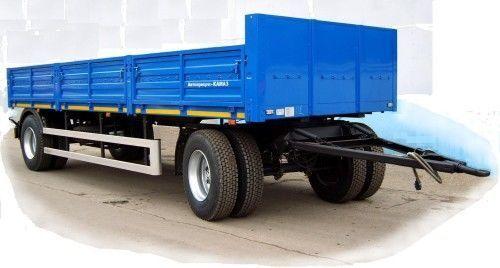 new KAMAZ SZAP-83561 flatbed trailer