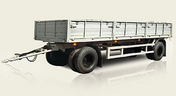 new MAZ 837810 flatbed trailer