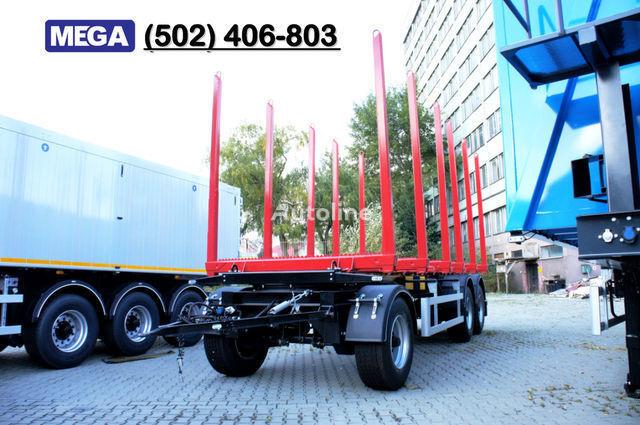 MEGA Leśna/Papierówka - 6 x kłonic z reg. wys timber trailer