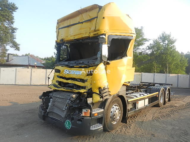 damaged SCANIA R 440 6X2 BDF - EURO 6 - 2013 r. container chassis
