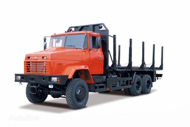 KRAZ 6233M6  timber truck