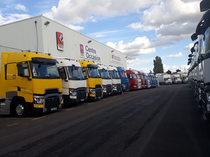 Stock site Renault Trucks France by Volvo group Lyon