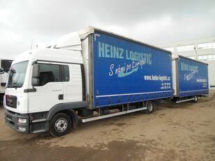 MAN TGL 12.250, EURO 5, JUMBO 120m3 + curtain side trailer