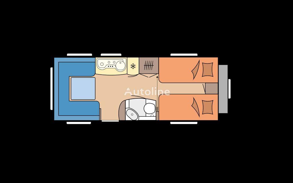 new HOBBY 540 UL DE LUXE caravan trailer