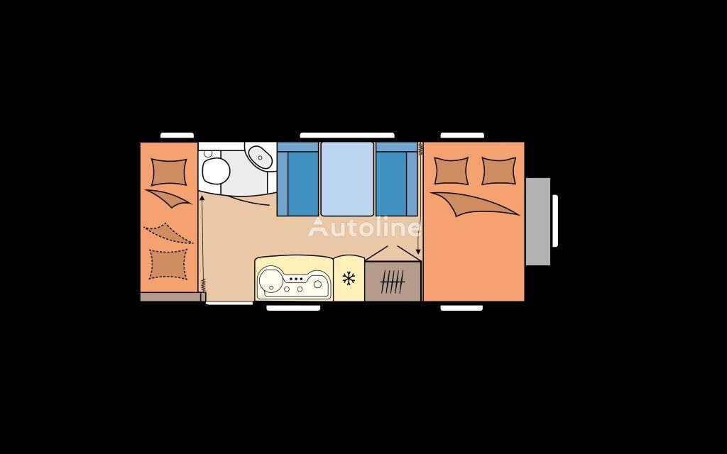 new HOBBY 490 KMF DE LUXE caravan trailer