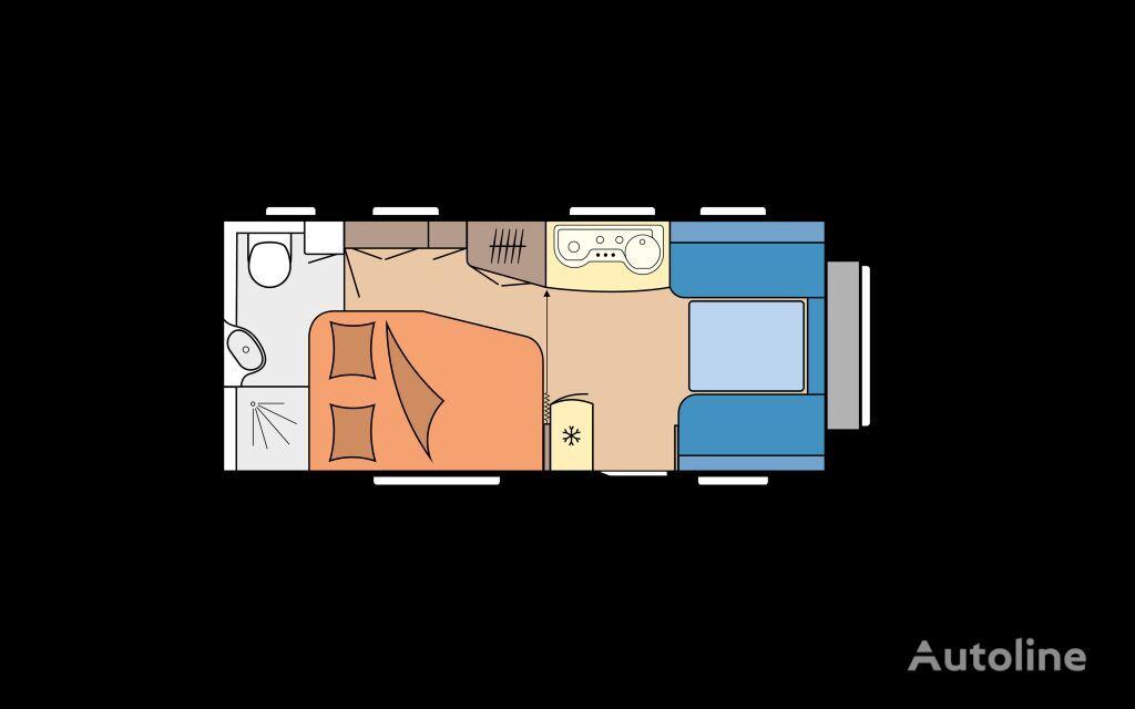 new HOBBY 495 WFB DE LUXE caravan trailer