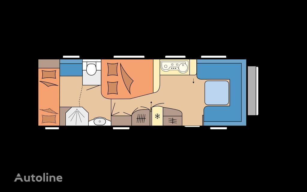 new HOBBY 720 KWFU PRESTIGE caravan trailer