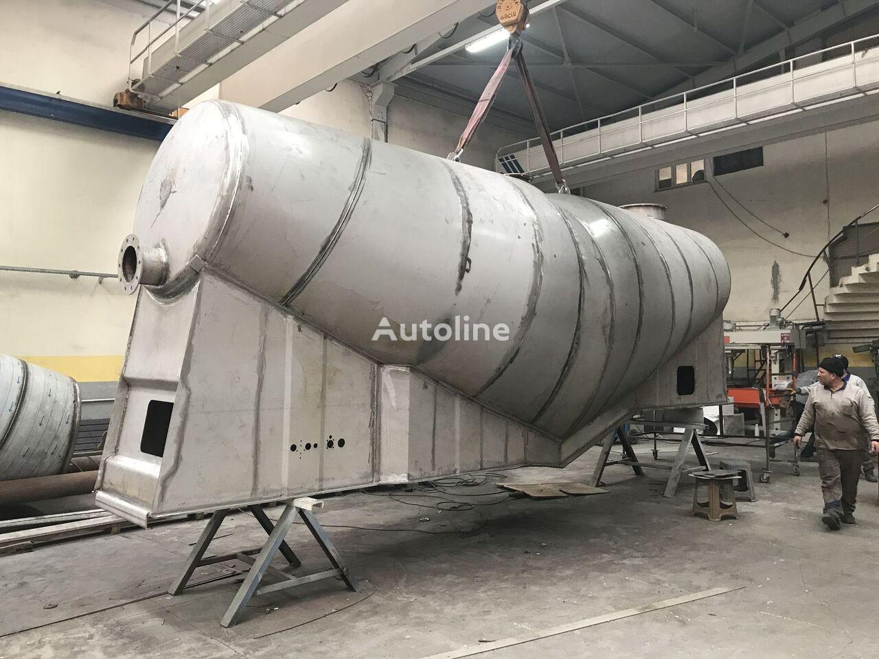 new EMIRSAN Slurry Tank INOX 304L 4 mm cement tank trailer
