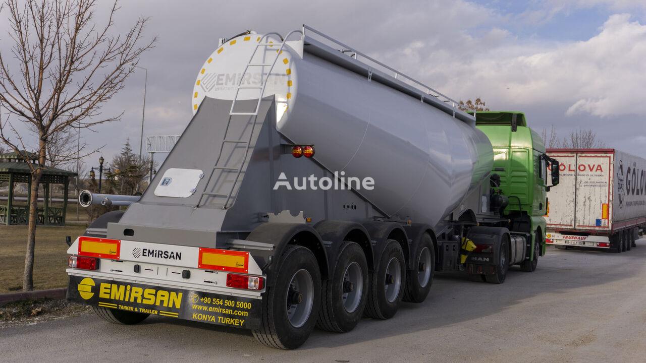 new EMIRSAN 4 Axle Cement Tanker Trailer cement tank trailer