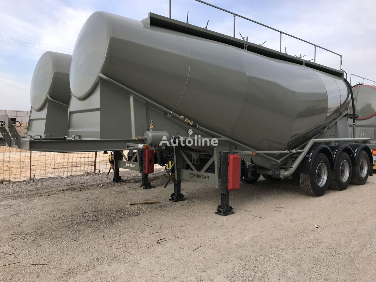 new EMIRSAN Cement Tanker from Factory, 3 Pcs, 30 m3 Ready for Shipment cement tank trailer